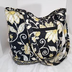 Vera Bradley Quilted Sunflower Black Tote Bag